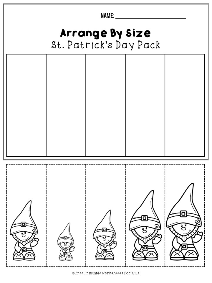 March St Patrick's Day Printable Worksheet Pack | Free Printable Worksheets For Kids | 50 pages of free St Patrick's Day themed printable worksheets for kids. Includes a variety of literacy, math and fine motor activities.