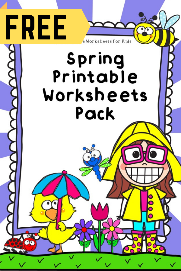 May Spring Printable Worksheets Pack | Free Printable Worksheets For Kids | 50 pages of free Spring themed printable worksheets for kids. Includes a variety of literacy, math and fine motor activities. Bring on the flower, frog and flying bugs fun!
