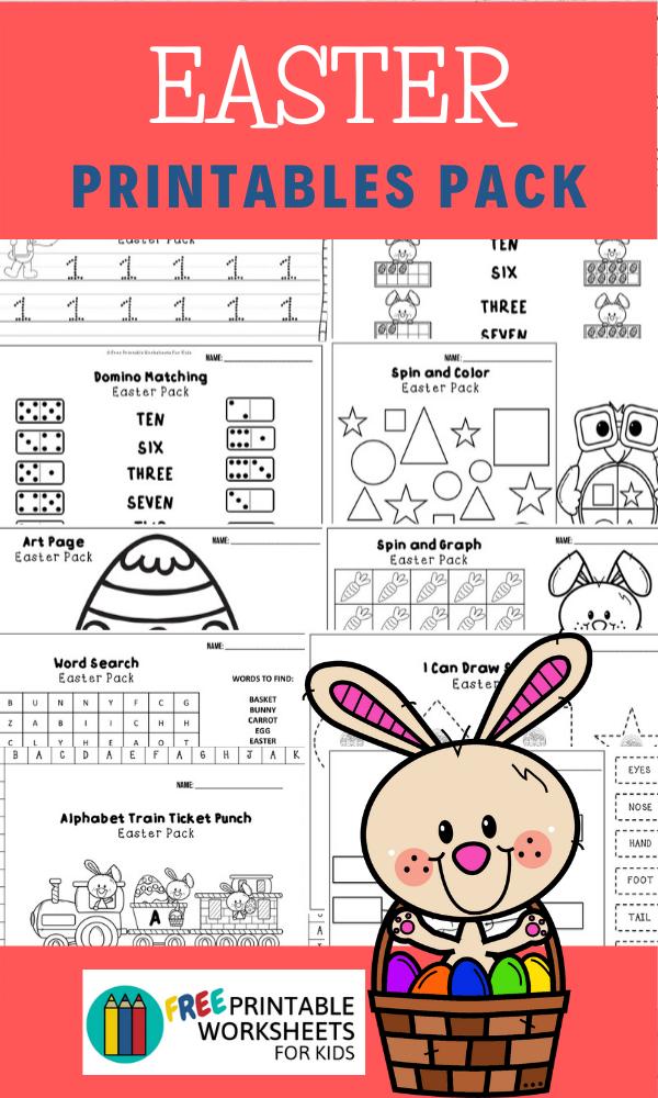 Fun Easter Printables for Preschool and Kindergarten | April Easter Themed Games | Hands On Homeschool Activities | Kids Classroom Center Ideas and Worksheets #FreePrintableWorksheetsForKids #Easter #Bunny #April