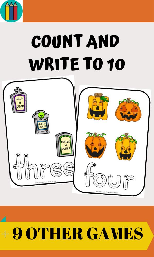 Fun Halloween Printables for Preschool and Kindergarten | Halloween Themed Literacy and Math Centers | Hands On Homeschool Activities | Kids Classroom Center Ideas and Worksheets #FreePrintableWorksheetsForKids #Halloween #Alphabet #Number