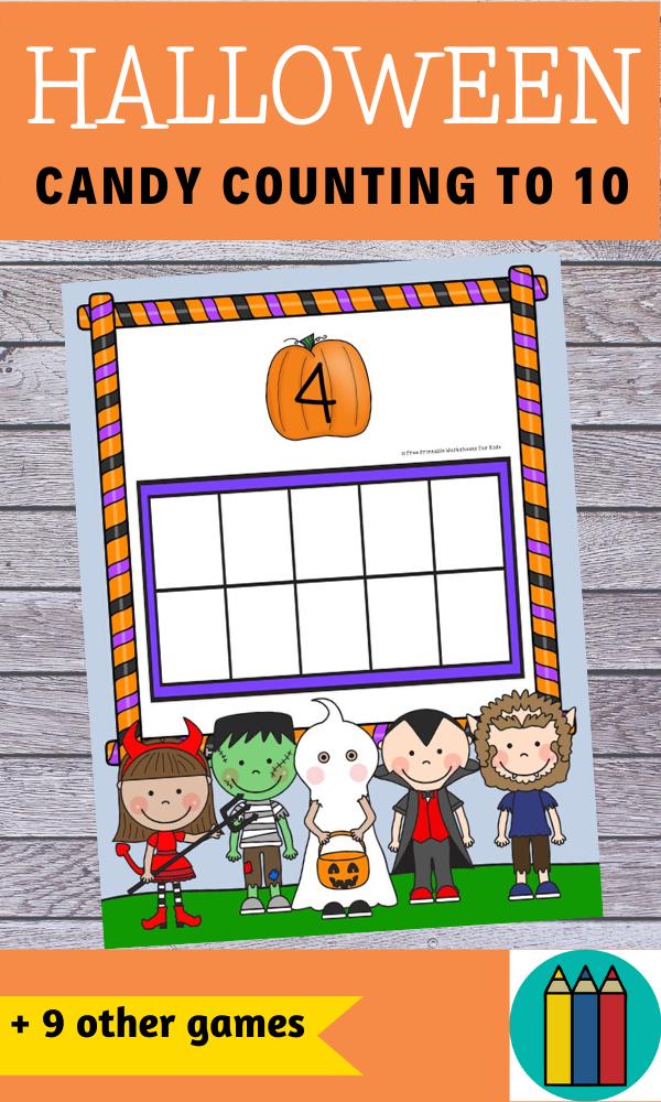 Fun Halloween Printables for Preschool and Kindergarten   Halloween Themed Literacy and Math Centers   Hands On Homeschool Activities   Kids Classroom Center Ideas and Worksheets #FreePrintableWorksheetsForKids #Halloween #Alphabet #Number