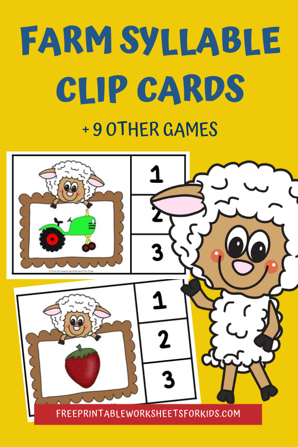 Fun Farm Printables for Preschool and Kindergarten | 10 Literacy and Math Farm Themed Games | Alphabet Numbers and Fine Motor Hands On Homeschool Activities | Kids Classroom Center Ideas #FreePrintableWorksheetsForKids #Farm #Animals