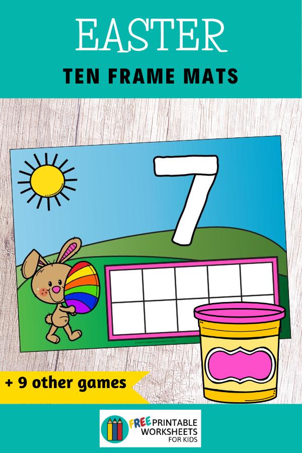 Fun Easter Printables for Preschool and Kindergarten | Easter Literacy and Math | Hands On Homeschool Activities | Kids Classroom Center Ideas and Worksheets #FreePrintableWorksheetsForKids #Easter #Bunny #Egg
