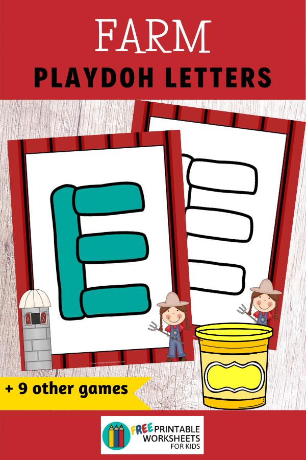 Fun Farm Printables for Preschool and Kindergarten | 10 Literacy and Math Farm Themed Games | Alphabet Numbers and Fine Motor Hands On Homeschool Activities | Kids Classroom Center Ideas #FreePrintableWorksheetsForKids #Farm #Animals