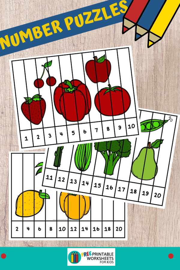 Fun Fruit and Vegetable Printables for Preschool and Kindergarten | 10 Food Literacy and Math Games | Alphabet Numbers and Fine Motor Hands-On Homeschool Activities | Kids Classroom Center Ideas #FreePrintableWorksheetsForKids #Fruit #Vegetable