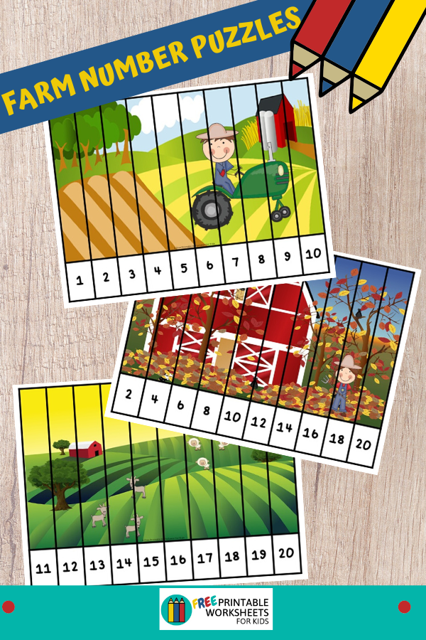 Fun Farm Printables for Preschool and Kindergarten   10 Literacy and Math Farm Themed Games   Alphabet Numbers and Fine Motor Hands On Homeschool Activities   Kids Classroom Center Ideas #FreePrintableWorksheetsForKids #Farm #Animals