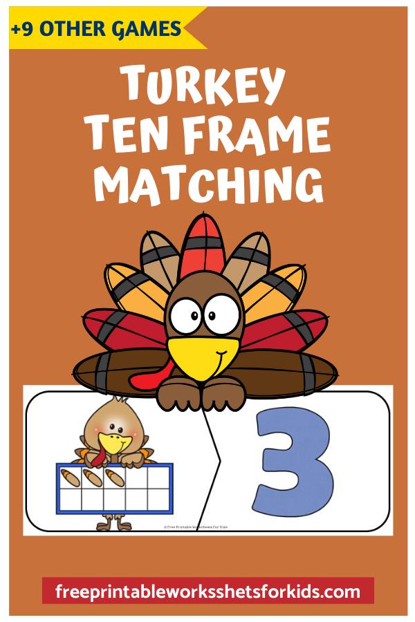 Fun Thanksgiving Printables for Preschool and Kindergarten   10 Turkey Literacy and Math Games   Alphabet Numbers and Fine Motor Hands-On Homeschool Activities   Kids Classroom Center Ideas #FreePrintableWorksheetsForKids #Turkey #Thanksgiving