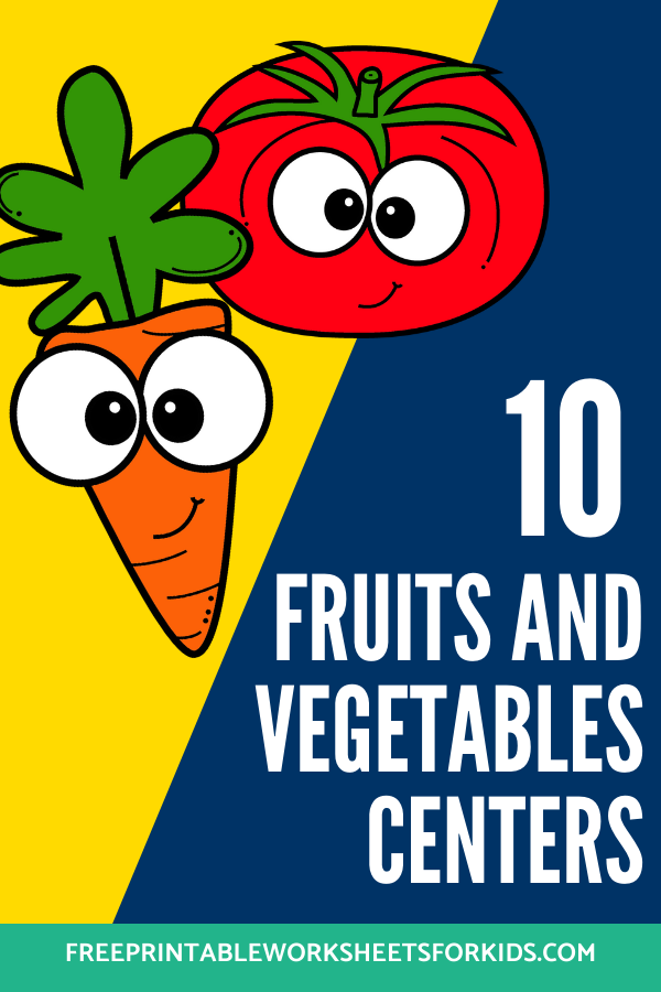 Fun Fruit and Vegetable Printables for Preschool and Kindergarten   10 Food Literacy and Math Games   Alphabet Numbers and Fine Motor Hands-On Homeschool Activities   Kids Classroom Center Ideas #FreePrintableWorksheetsForKids #Fruit #Vegetable