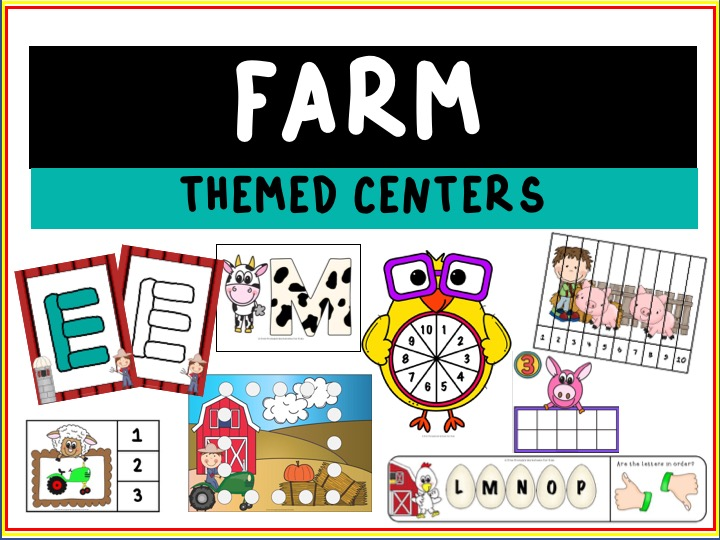Farm Shapes Mats | Free Printable Worksheets For Kids | This printable activity will help your child learn shapes and develop fine motor skills. It can be used with playdough, pom poms, dot markers etc. There are shapes all around a farm and, with the tractors, fields of crops and animals, it's one of my 4-year-old's favorite places to go.
