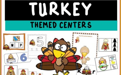 Turkey Themed Literacy and Math Centers