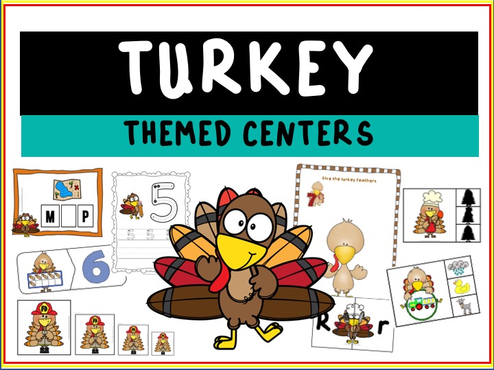 Fun Thanksgiving Printables for Preschool and Kindergarten | 10 Turkey Literacy and Math Games | Alphabet Numbers and Fine Motor Hands-On Homeschool Activities | Kids Classroom Center Ideas #FreePrintableWorksheetsForKids #Turkey #Thanksgiving