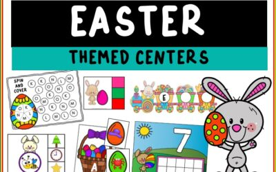 Easter Themed Literacy and Math Centers