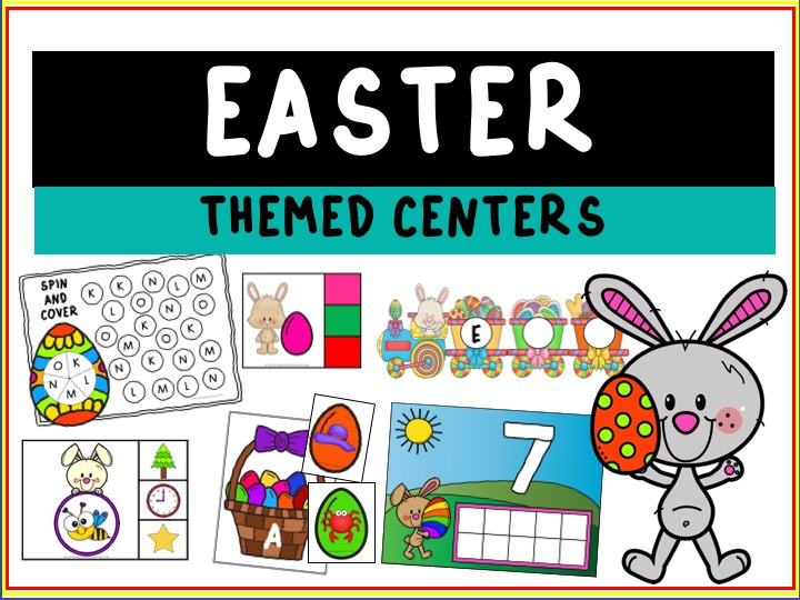 Fun Easter Printables for Preschool and Kindergarten | Easter Literacy and Math | Hands On Homeschool Activities | Kids Classroom Center Ideas and Worksheets #FreePrintableWorksheetsForKids #Easter #Bunny #Egg