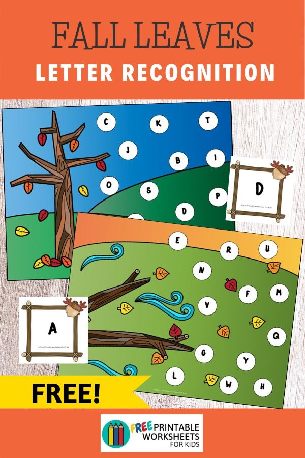 Fall Leaves Pick and Cover Letters | Free Printable Worksheets For Kids | Pick a letter card then find and cover it on the playing mat. This is a great independent play activity for preschoolers and kindergarteners that requires no prep time.