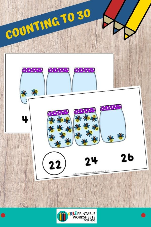Preschoolers and kindergarteners will love counting the fireflies in this printable math activity. Fun Counting Printables for Preschool and Kindergarten | Insects and Bugs Themed Games | Hands On Math Homeschool Activities | Kids Classroom Center Ideas and Worksheets #FreePrintableWorksheetsForKids #firefly #insect #counting