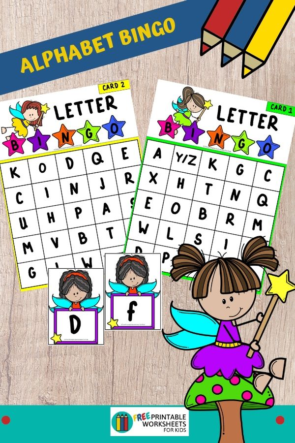 This fairy alphabet bingo activity will make teaching letter recognition so fun and simple. Fun Alphabet Printables for Preschool and Kindergarten | Fairy Themed Letter Games | Hands On Literacy Homeschool Activities | Kids Classroom Center Ideas and Worksheets #FreePrintableWorksheetsForKids #Fairy #Alphabet #Bingo