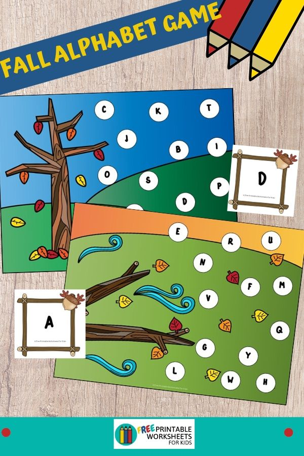 Pick a letter card then find and cover it on the playing mat. This is a great independent play activity for preschoolers and kindergarteners that requires no prep time. Fun Fall Leaves Printables for Preschool and Kindergarten | Autumn Themed Literacy Games | Hands On ABC Homeschool Activities | Kids Classroom Center Ideas and Worksheets #FreePrintableWorksheetsForKids #fall #autumn #letters #alphabet