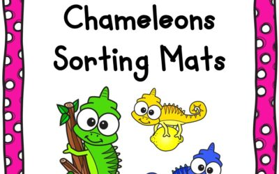 Rainbow Chameleon Color Sorting Activity