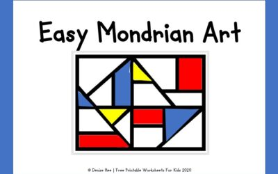 Easy Mondrian Art