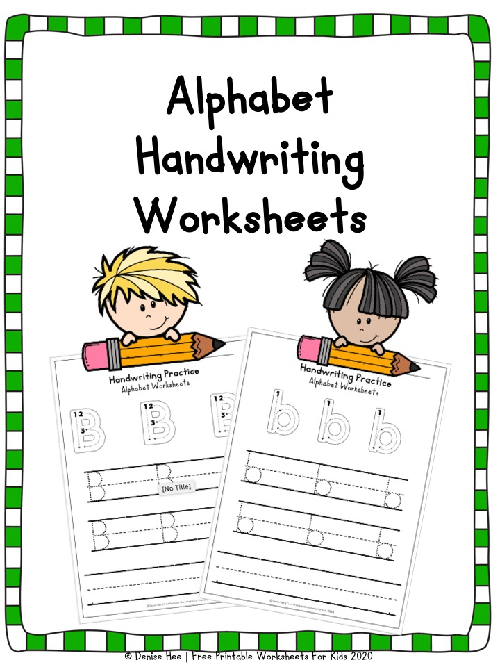 Alphabet Handwriting Practice Worksheets Free Printable Worksheets For  Kids