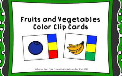 Fruit and Vegetable Color Clipcards