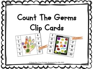 Count the Germs Clip Cards