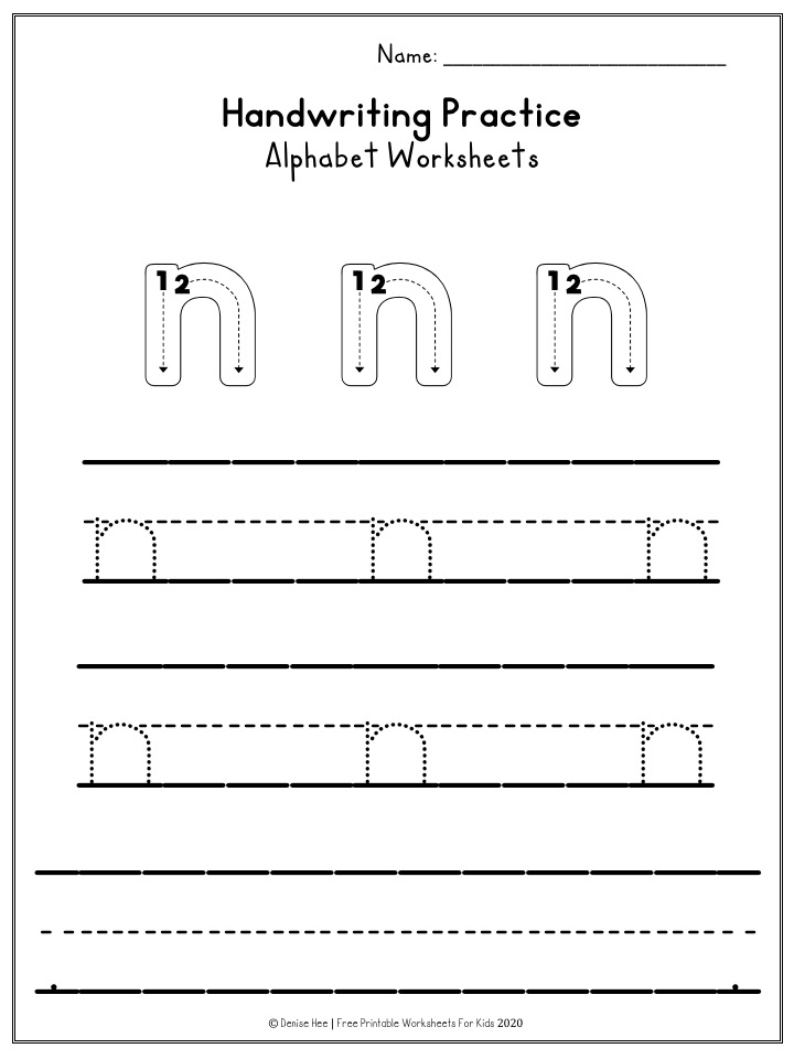 Alphabet Handwriting Practice Worksheets | Free Printable Worksheets For Kids | Learning how to write letters is an essential part of early literacy. These alphabet handwriting worksheets don't need any prep time and are great as a preschool independent activity. Both upper and lowercase worksheets are included.
