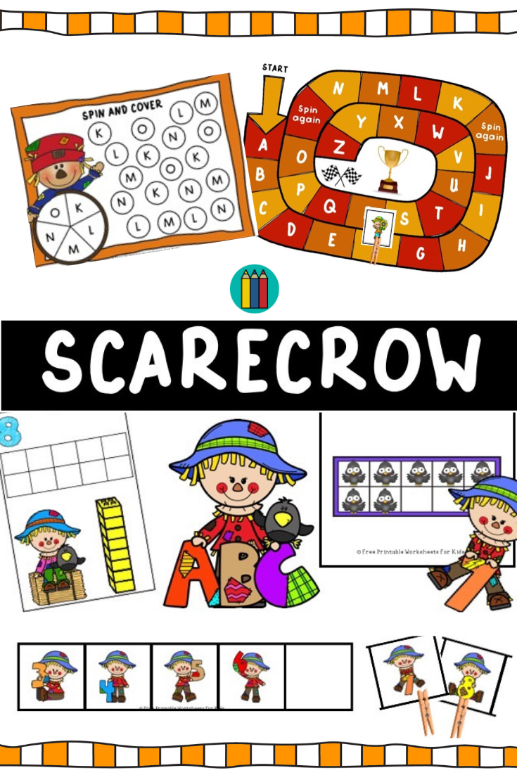 Scarecrow Themed Literacy and Math Centers | Free Printable Worksheets For Kids | (*Disclaimer: Some links in this post are affiliate links. I may receive a small commission but this does not increase the price you pay. Thank you for supporting this blog!)