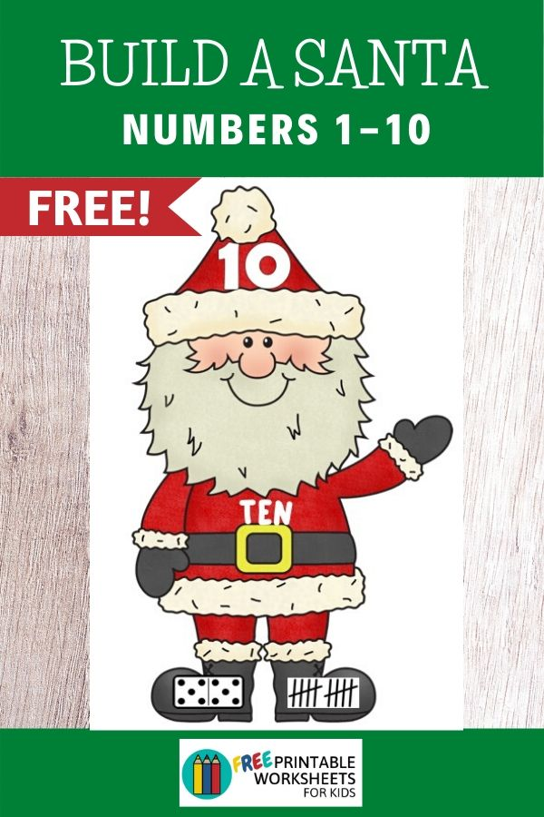 Fun Christmas Printables for Preschool and Kindergarten | Santa Themed Number Games | Hands On Math Homeschool Activities | Kids Classroom Center Ideas and Worksheets #FreePrintableWorksheetsForKids #Christmas #Santa #Number