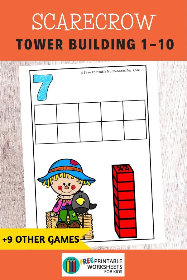 Fun Fall Printables for Preschool and Kindergarten | Scarecrow Themed Games | Hands On Homeschool Activities | Kids Classroom Center Ideas and Worksheets #FreePrintableWorksheetsForKids #scarecrow #fall #autumn