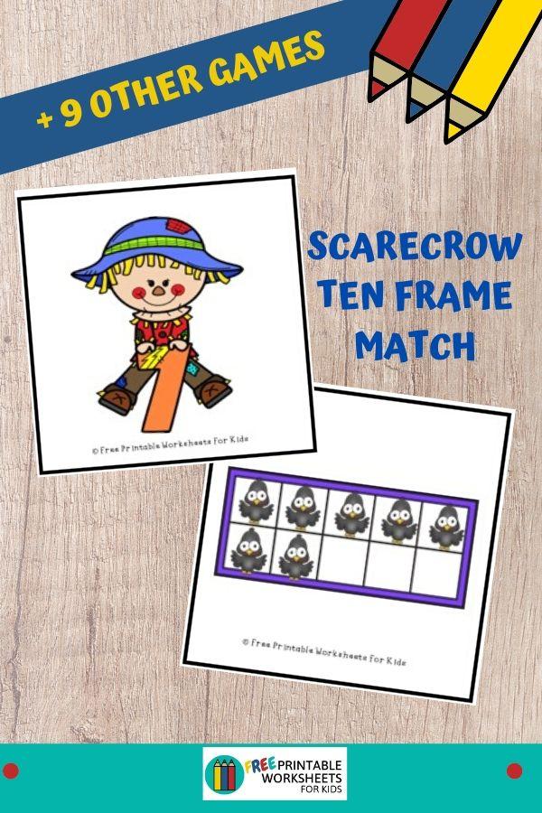 Fun Fall Printables for Preschool and Kindergarten   Scarecrow Themed Games   Hands On Homeschool Activities   Kids Classroom Center Ideas and Worksheets #FreePrintableWorksheetsForKids #scarecrow #fall #autumn
