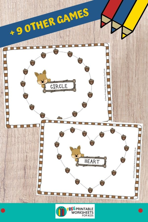 Fun Fall Printables for Preschool and Kindergarten | Fall Leaves and Acorns Themed Games | Hands On Homeschool Activities | Kids Classroom Center Ideas and Worksheets #FreePrintableWorksheetsForKids #fall #autumn #leaves #acorns