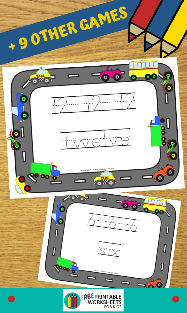 Fun Vehicle Printables for Preschool and Kindergarten | 10 Literacy and Math Transportation Themed Games | Alphabet Numbers and Fine Motor Hands On Homeschool Activities | Kids Classroom Center Ideas #FreePrintableWorksheetsForKids #vehicle #transportation #car #truck #train