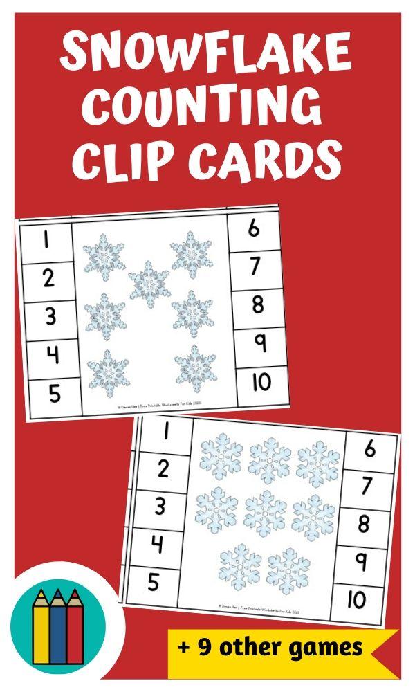 Fun Winter Printables for Preschool and Kindergarten | Snow Themed Games | Hands On Math Homeschool Activities | Kids Classroom Literacy Center Ideas and Worksheets #FreePrintableWorksheetsForKids #snow #snowflake #snowman #winter