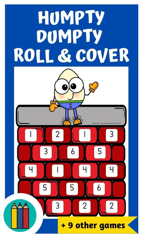 Fun Nursery Rhymes Printables for Preschool and Kindergarten | Nursery Rhyme Themed Games | Hands On Homeschool Activities | Kids Classroom Center Ideas and Worksheets #FreePrintableWorksheetsForKids #songs #nurseryrhymes #humptydumpty #littlemissmuffet #heydiddlediddle #baabaablacksheep #incywincyspider #jackandjill #patacake #littleboyblue