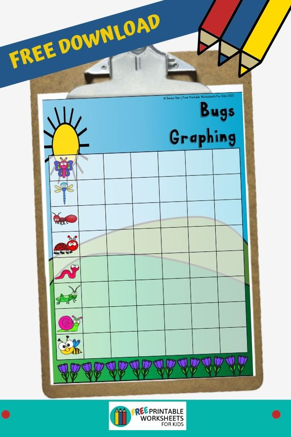 Fun Bugs Printables for Preschool and Kindergarten   Insect Themed Graphing Games   Hands On Math Homeschool Activities   Kids Classroom Center Ideas and Worksheets #FreePrintableWorksheetsForKids #bugs #insect #graphing #spring