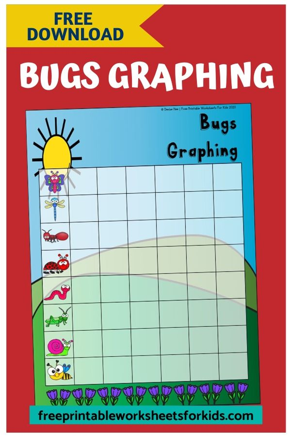 Bugs Graphing | Free Printable Worksheets For Kids | Kids will love using this hands-on math printable graphing the number of bugs they can find outdoors or, if you don't have a garden, indoors in a sensory tub. Insect themed games are perfect for springtime and this one is no exception.