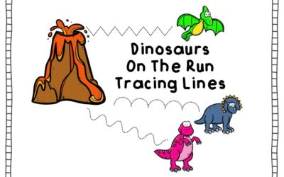 Dinosaur On The Run Tracing Lines