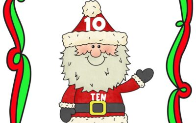 Build A Number Santa