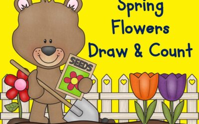 Spring Flowers Draw and Count