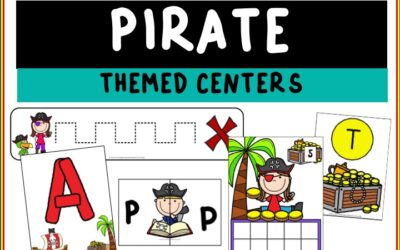 Pirate Themed Literacy and Math Centers