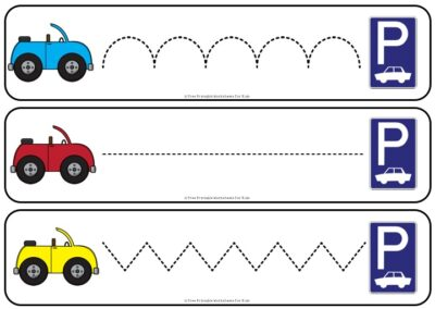 Fun Tracing Printables for Preschool and Kindergarten | Car Themed Games | Hands On Writing Homeschool Activities | Kids Classroom Center Ideas and Worksheets #FreePrintableWorksheetsForKids #car #vehicle #tracing #finemotor