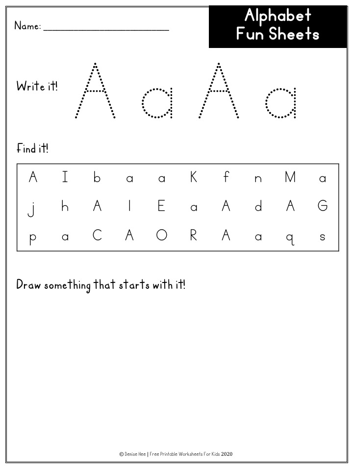 Alphabet No-Prep Busy Bundle | Free Printable Worksheets For Kids | 600+ pages of alphabet activities including playdough mats, handwriting practice, latter recognition, letter case sorting, do-a-dot, q tip painting, drawing, punch cards, beginning sound clip cards, etc. Teach your preschooler the letters and their sounds with this fun pack.