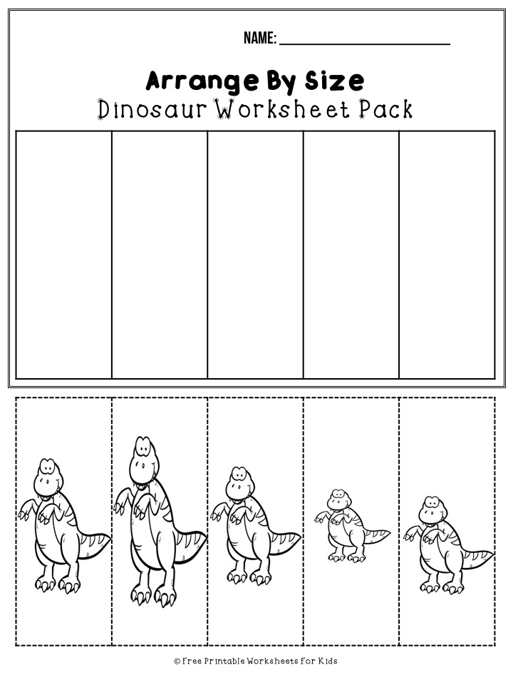 Dinosaur Printable Worksheets Pack | Free Printable Worksheets For Kids | I know your little one will love all the fun literacy and math activities in this 50-page dinosaur worksheet pack! Practice letter recognition, writing, counting, graphing, tracing, coloring and so much more.