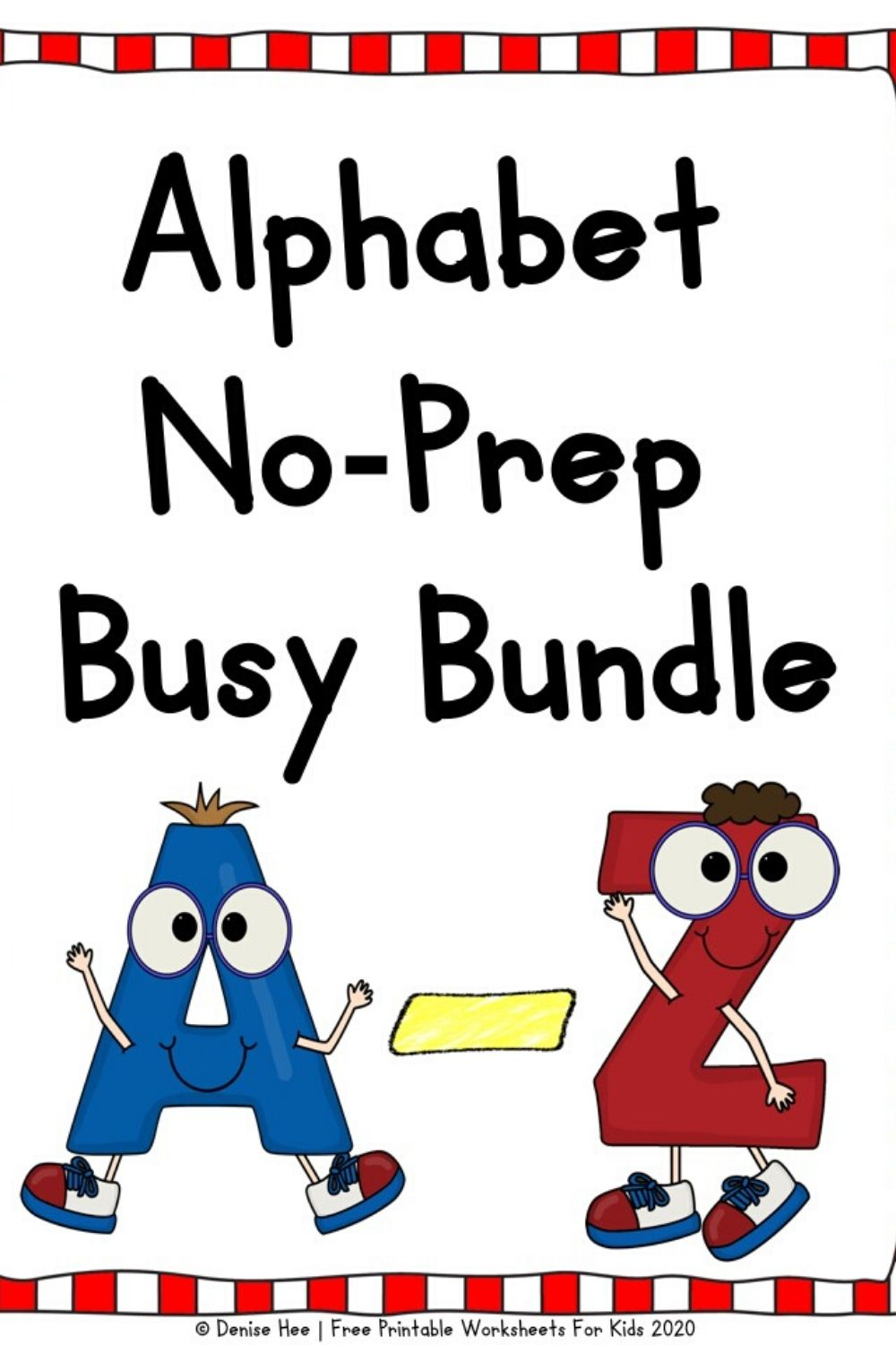 600+ pages of alphabet activities including playdough mats, handwriting practice, latter recognition, letter case sorting, do-a-dot, q tip painting, drawing, punch cards, beginning sound clip cards, etc. Teach your preschooler the letters and their sounds with this fun pack.