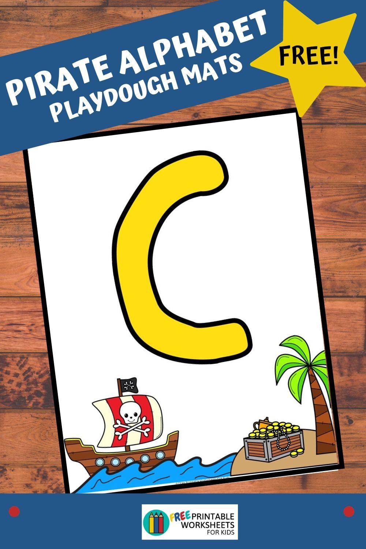 Pirate Alphabet Playdough Mats