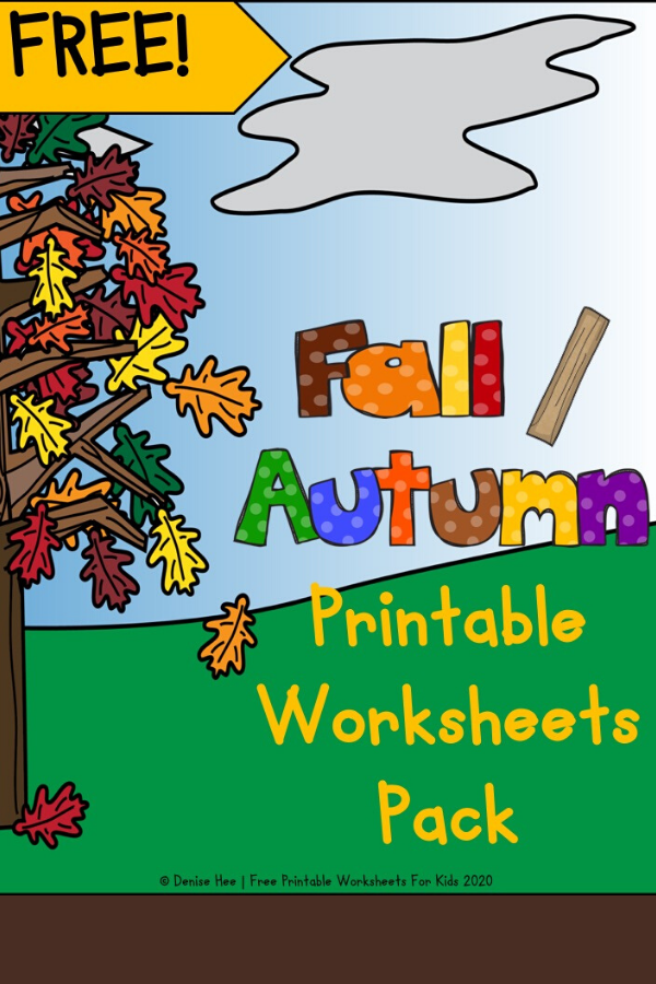 Fall Printable Worksheets Pack