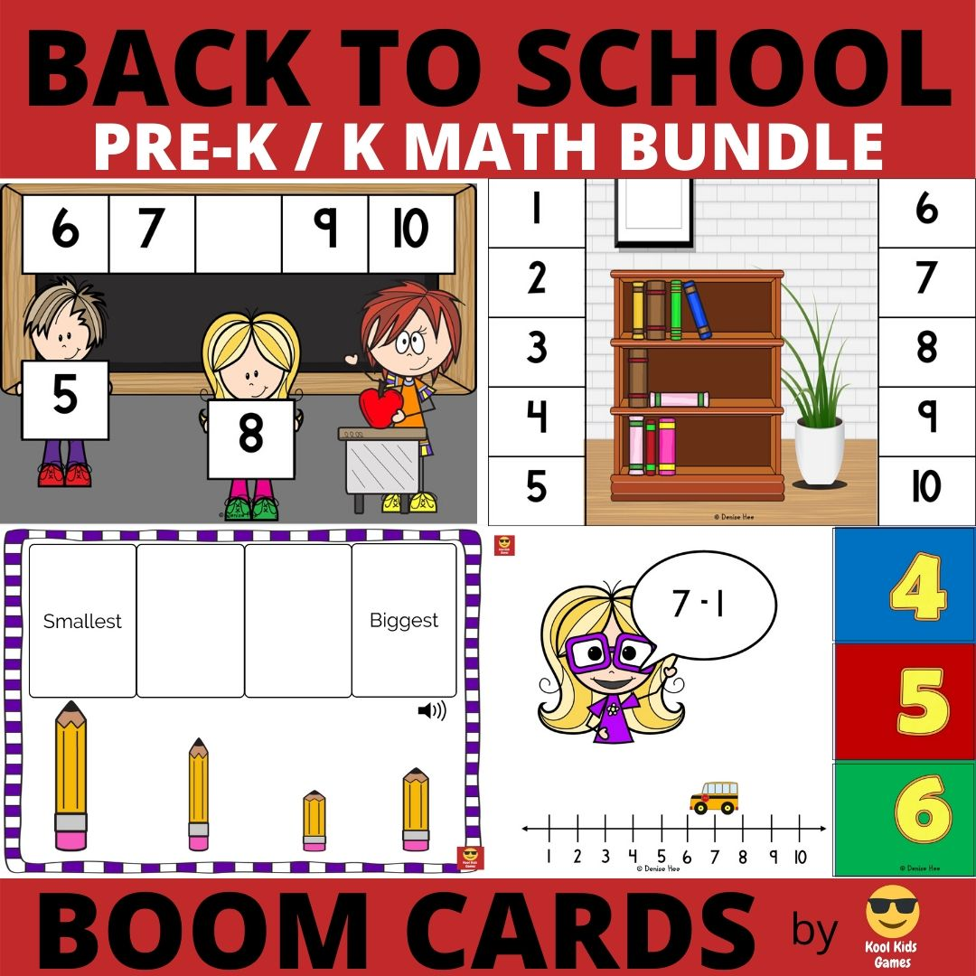 Back to School Printable Worksheets Pack | Free Printable Worksheets For Kids | It's time to get ready to go back to school! This worksheet pack will help your preschooler practice the skills they need including learning shapes, numbers, alphabet and more.