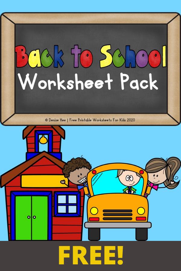 Back to School Printable Worksheets Pack