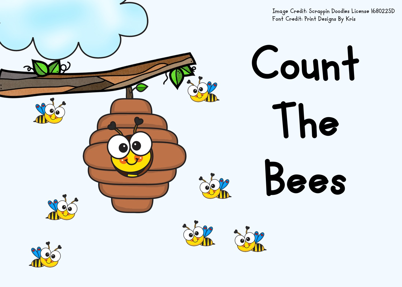 Fun Bugs Printables for Preschool and Kindergarten | Insect Themed Counting Games | Hands On Math Homeschool Activities | Kids Classroom Center Ideas and Worksheets #FreePrintableWorksheetsForKids #bees #counting #insect # bug #spring #clipcards